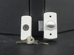 Deadbolt Latch White & Black