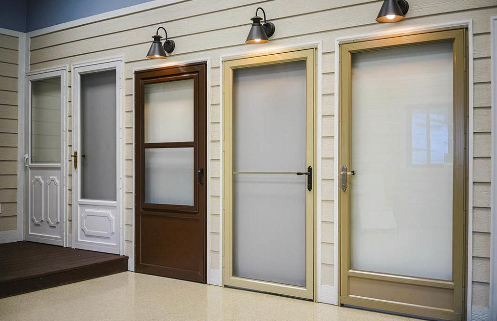 storm doors and window display
